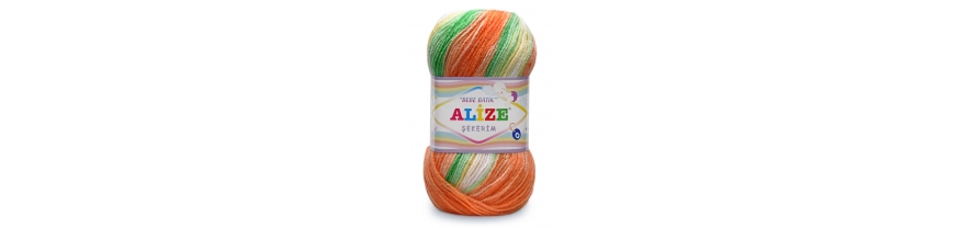 Купить пряжу Alize Sekerim Bebe Batik