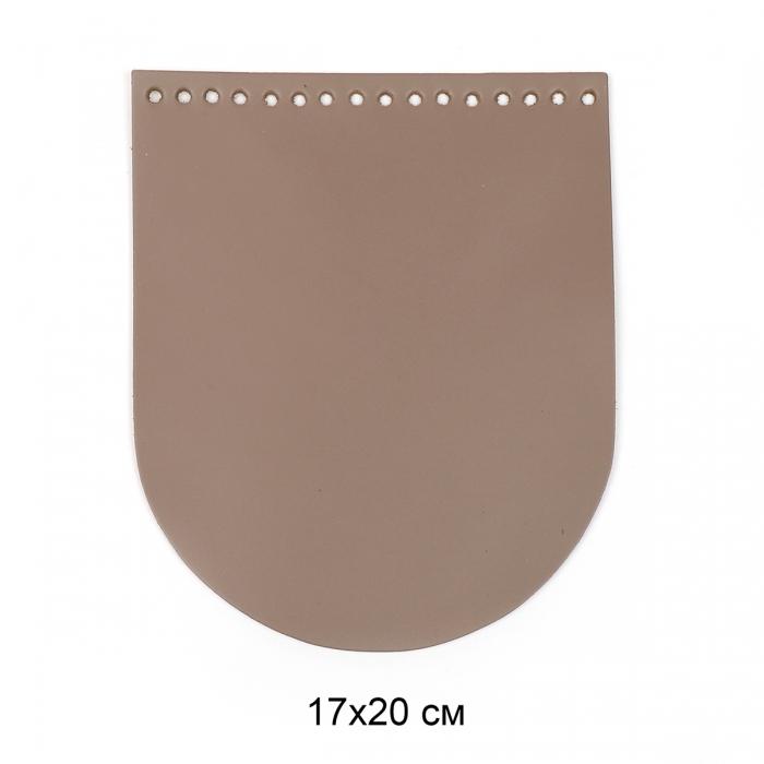 Клапан для сумки овал 17х20 см цв.капучино (нат.кожа)
