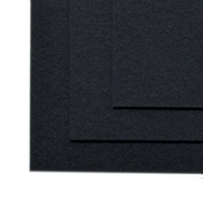 Фетр листовой жесткий IDEAL 1мм 20х30см арт.FLT-H1 уп.10 листов цв.655 иссиня черный