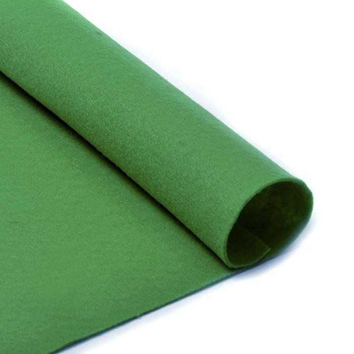 Фетр в рулоне жесткий IDEAL 2мм 100см арт.FLT-H3 уп.10м цв.705 зеленый