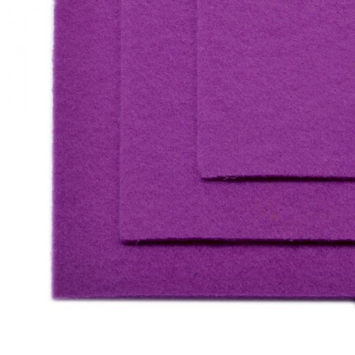 Фетр листовой жесткий IDEAL 1мм 20х30см арт.FLT-H1 уп.10 листов цв.619 сирень
