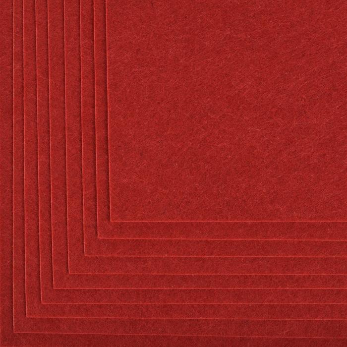 Фетр листовой жесткий IDEAL 1мм 20х30см арт.FLT-H1 уп.10 листов цв.617 бордовый