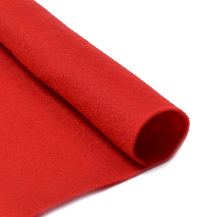 Фетр в рулоне жесткий IDEAL 1мм 100см арт.FLT-H2 уп.5м цв.601 красный