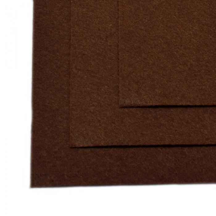 Фетр листовой жесткий IDEAL 1мм 20х30см арт.FLT-H1 уп.10 листов цв.687 коричневый