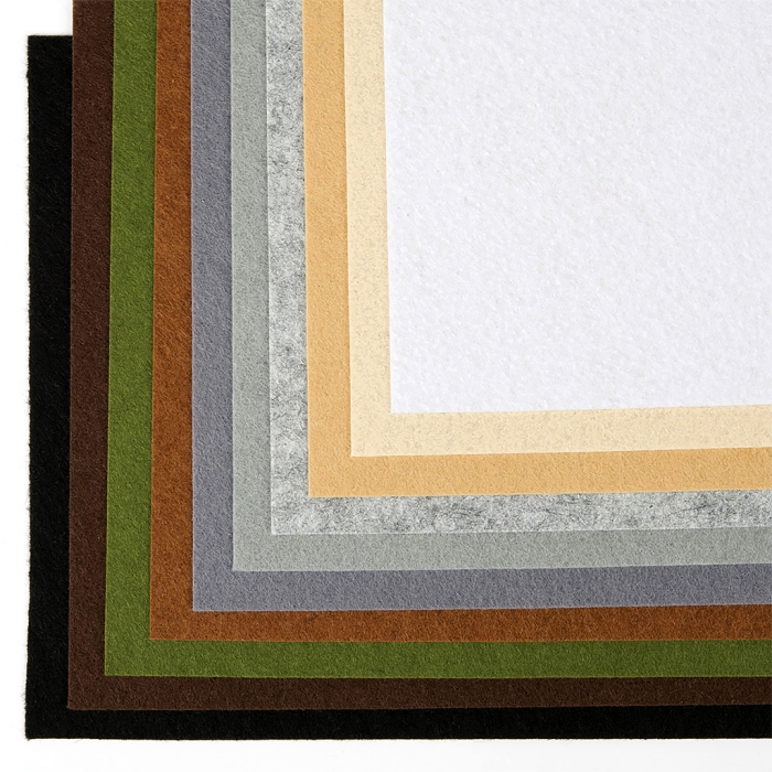 Набор листового фетра (мягкий) IDEAL 1мм 20х30см арт.FLT-SA9 уп.10 листов цв.темное ассорти