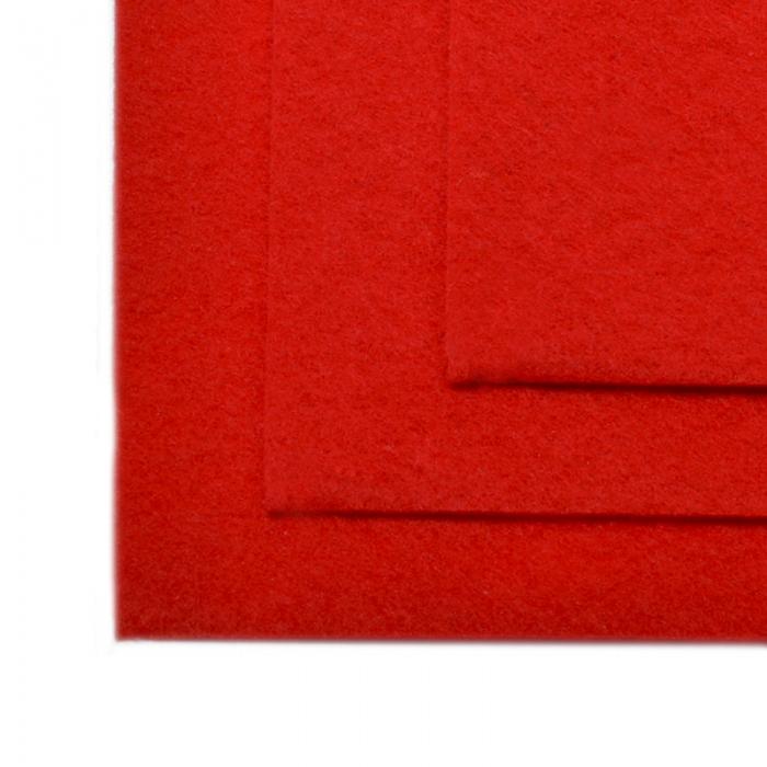 Фетр листовой мягкий IDEAL 1мм 20х30см арт.FLT-S1 уп.10 листов цв.601 красный