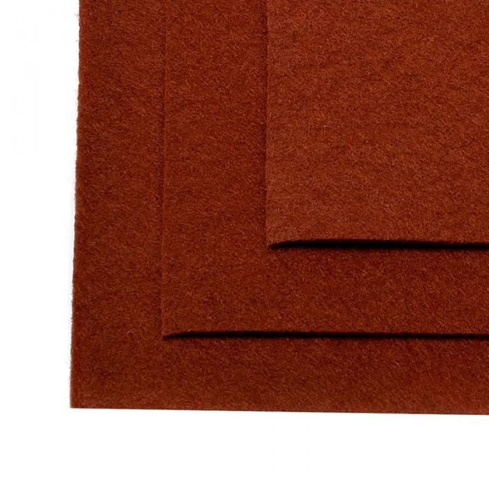 Фетр листовой жесткий IDEAL 1мм 20х30см арт.FLT-H1 уп.10 листов цв.692 св.коричневый