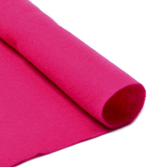 Фетр в рулоне мягкий IDEAL 1мм 100см арт.FLT-S2 уп.10м цв.609 ярк.розовый