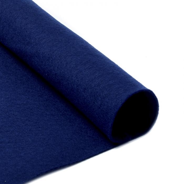 Фетр в рулоне жесткий IDEAL 1мм 100см арт.FLT-H2 уп.10м цв.673 т.синий
