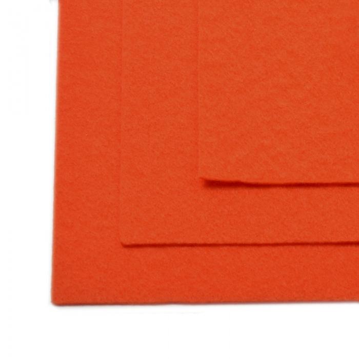 Фетр листовой жесткий IDEAL 1мм 20х30см арт.FLT-H1 уп.10 листов цв.628 оранжевый
