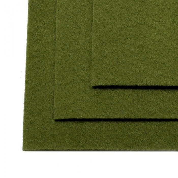 Фетр листовой жесткий IDEAL 1мм 20х30см арт.FLT-H1 уп.10 листов цв.663 болотный