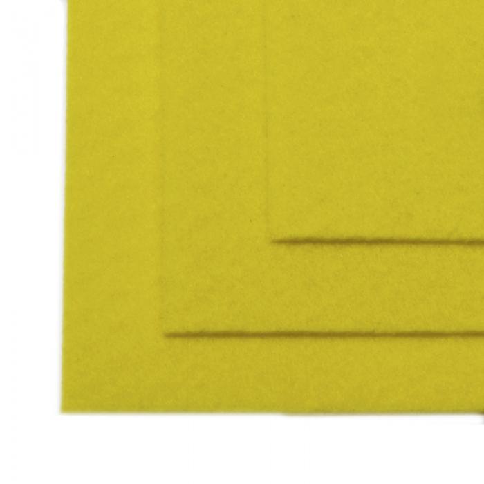 Фетр листовой жесткий IDEAL 1мм 20х30см арт.FLT-H1 уп.10 листов цв.633 лимон