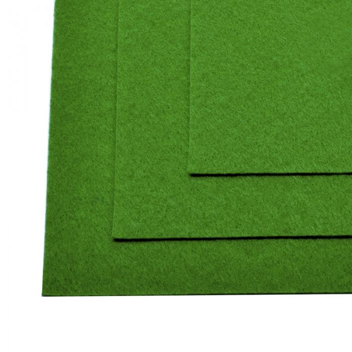 Фетр листовой жесткий IDEAL 1мм 20х30см арт.FLT-H1 уп.10 листов цв.705 зеленый