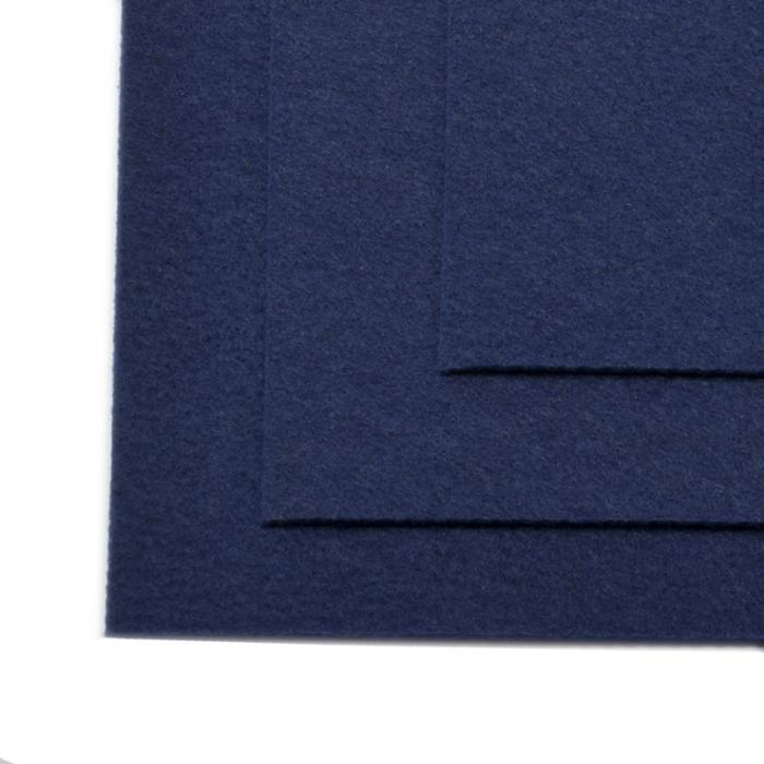 Фетр листовой жесткий IDEAL 1мм 20х30см арт.FLT-H1 уп.10 листов цв.673 т.синий