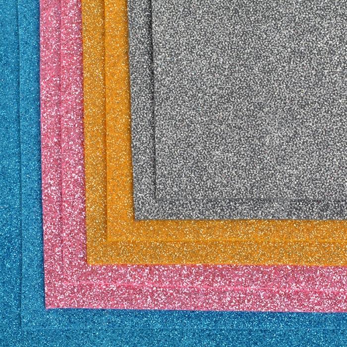 Набор листового фетра (глиттерный) IDEAL 1,4мм 20х30см арт.FLT-GL1 уп.8 листов цв.ассорти