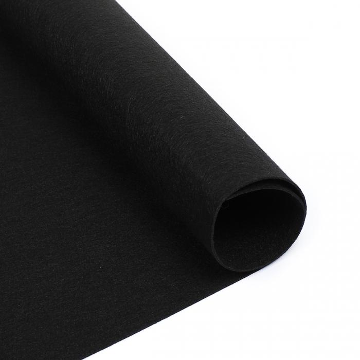 Фетр декоративный 1,2мм лист 33см х 53см/ 902 (черный) Корея