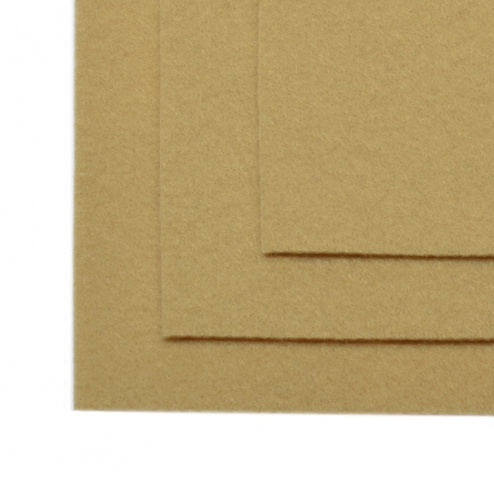 Фетр листовой жесткий IDEAL 1мм 20х30см арт.FLT-H1 уп.10 листов цв.641 св.бежевый
