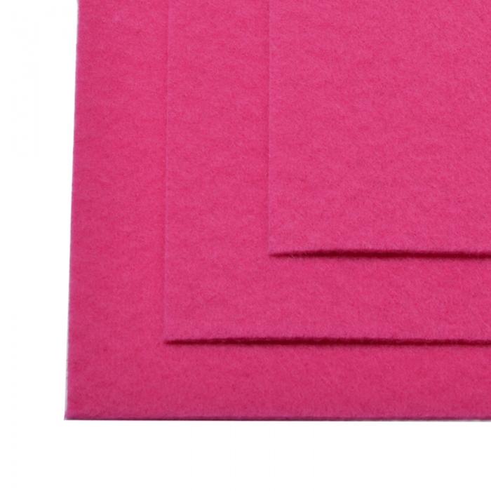 Фетр листовой жесткий IDEAL 1мм 20х30см арт.FLT-H1 уп.10 листов цв.609 ярк.розовый