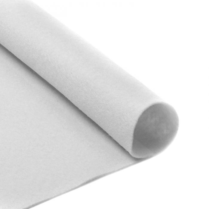 Фетр в рулоне жесткий IDEAL 2мм 100см арт.FLT-H3 уп.10м цв.660 белый
