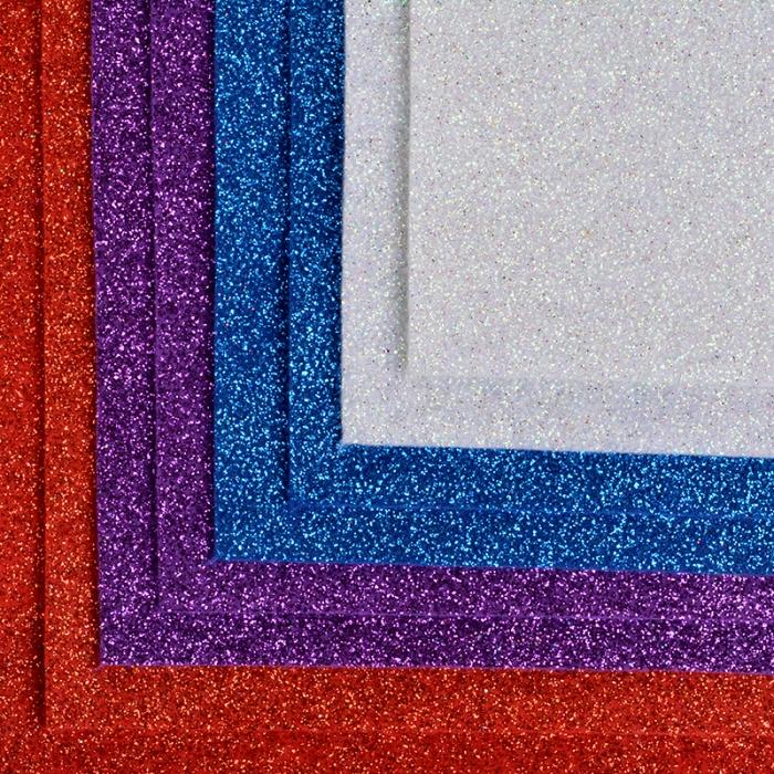 Набор листового фетра (глиттерный) IDEAL 1,4мм 20х30см арт.FLT-GL2 уп.8 листов цв.ассорти