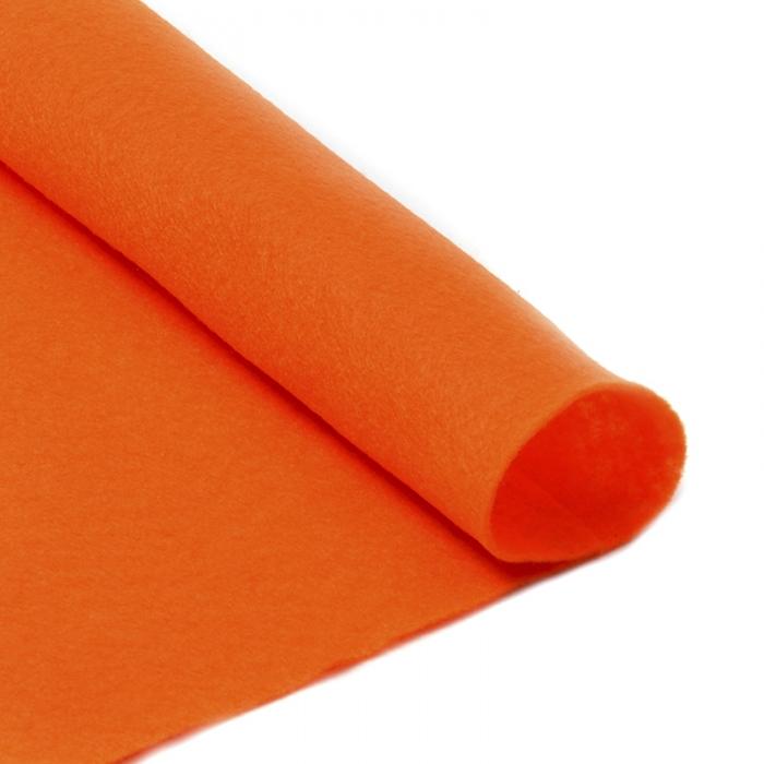 Фетр в рулоне жесткий IDEAL 1мм 100см арт.FLT-H2 уп.1м цв.645 бл.оранжевый