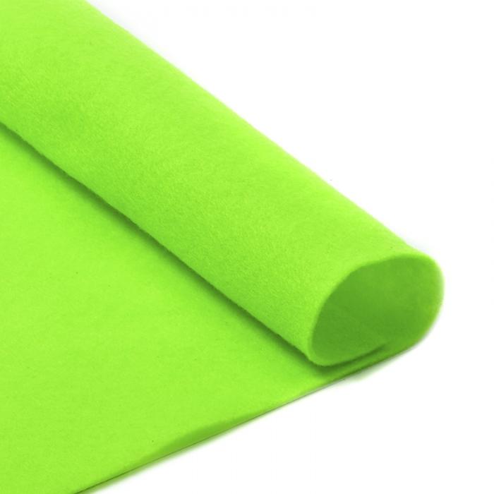 Фетр в рулоне жесткий IDEAL 1мм 100см арт.FLT-H2 уп.1м цв.674 салатовый