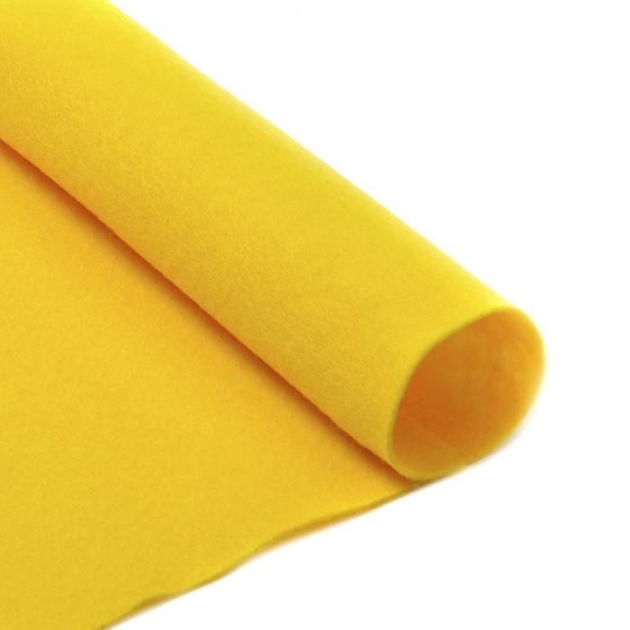 Фетр в рулоне мягкий IDEAL 1мм 100см арт.FLT-S2 уп.10м цв.643 желтый