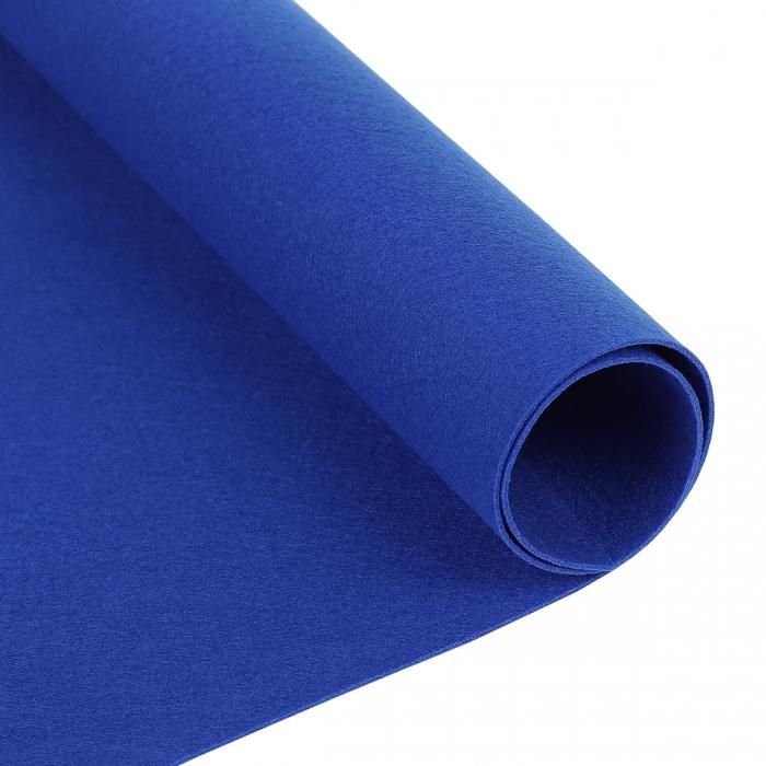 Фетр декоративный 1,2мм лист 33см х 53см/ 855 (синий) Корея