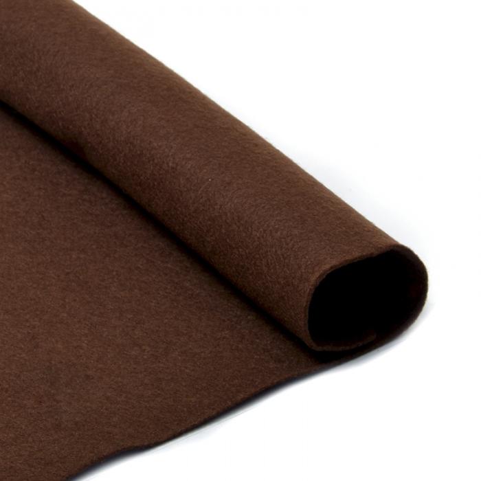 Фетр в рулоне жесткий IDEAL 1мм 100см арт.FLT-H2 уп.10м цв.687 коричневый