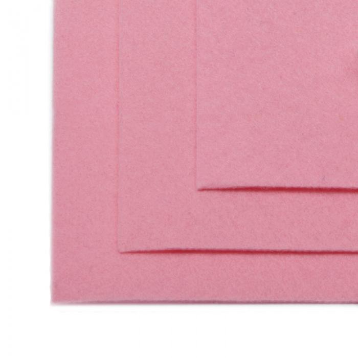 Фетр листовой жесткий IDEAL 1мм 20х30см арт.FLT-H1 уп.10 листов цв.613 св.розовый