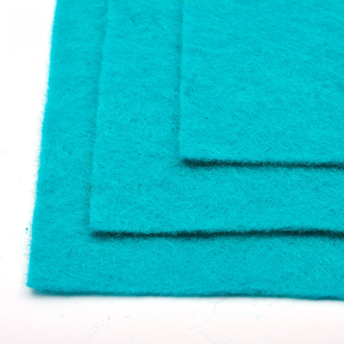 Фетр листовой жесткий IDEAL 1мм 20х30см арт.FLT-H1 уп.10 листов цв.651 бирюза