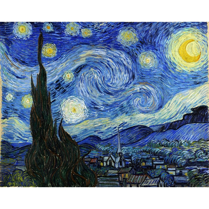 Алмазная мозаика на холсте ГРАННИ арт.Ag2215 Звездная ночь 48х38см
