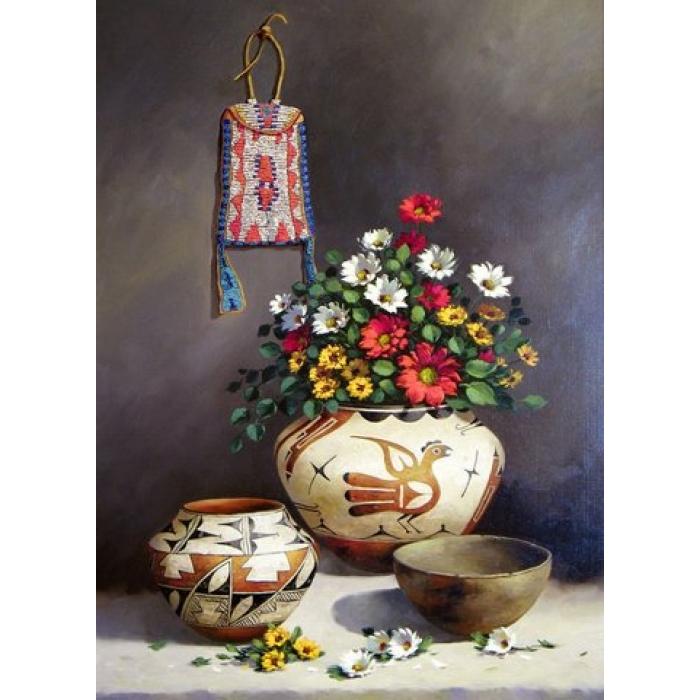 Набор для изготовления картин АЛМАЗНАЯ ЖИВОПИСЬ арт.АЖ.1253 Греческий натюрморт 40х55 см