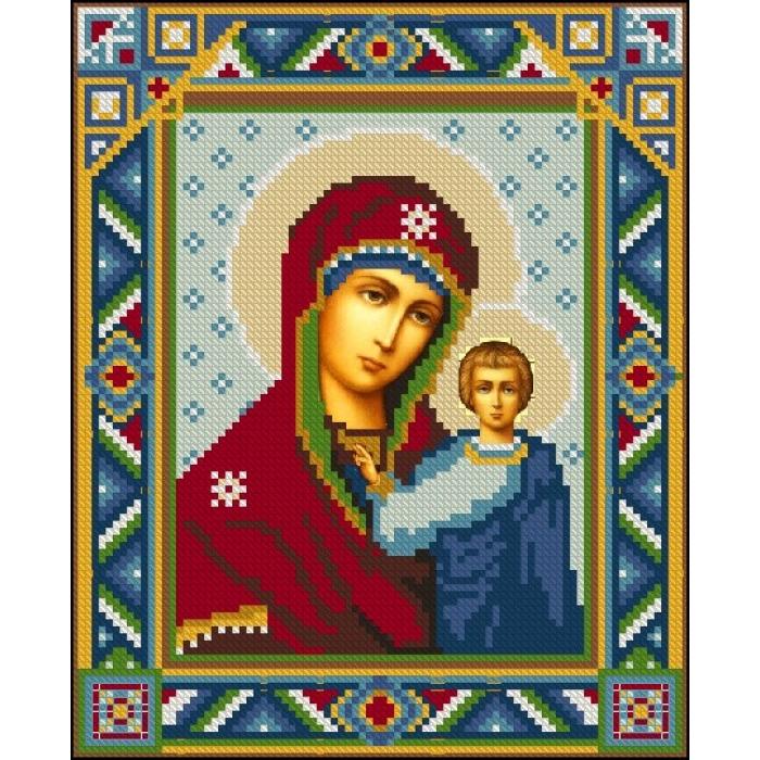 Алмазная мозаика Ah3146 Казанская Богородица 22х28 ч/в
