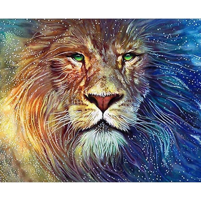 Картина 3D мозаика с нанесенной рамкой Molly арт.KM0879 Алмазный лев 40х50 см