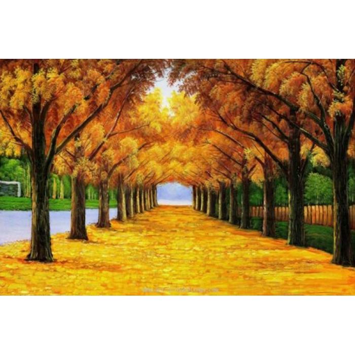 Набор для изготовления картин АЛМАЗНАЯ ЖИВОПИСЬ арт.АЖ.1161 Золотая аллея 70х50 см