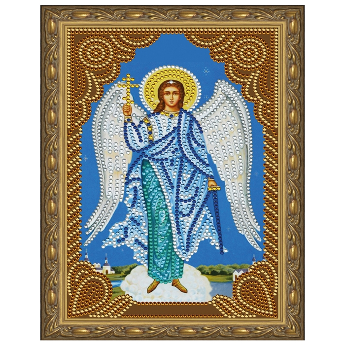 Картина 5D мозаика с нанесенной рамкой Molly арт.KM0710 Ангел Хранитель (9 цветов) 20х30 см