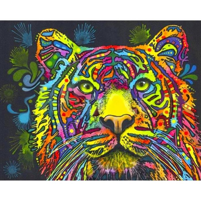 Набор Колор Кит картина со стразами арт.КК.CK004 Акварельный тигр 40х50