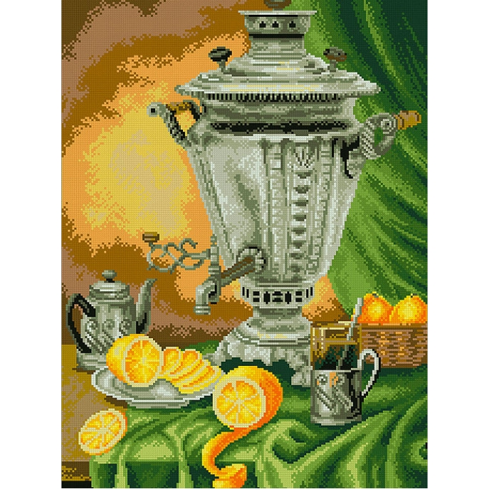 Набор Паутинка для изготовления картины со стразами арт.М261 Самовар 40х55 см