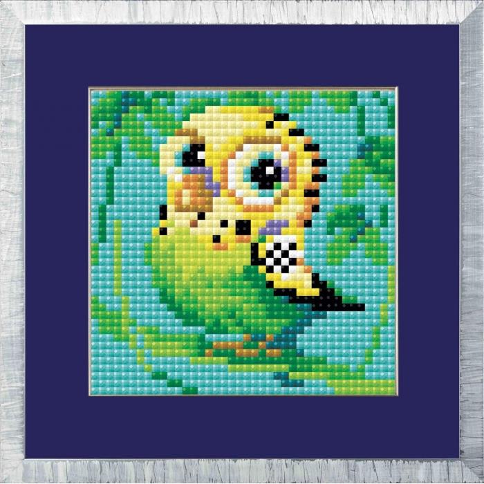 Набор РИОЛИС мозаичная картина арт.AM0021 Волнистый попугайчик 10х10 см