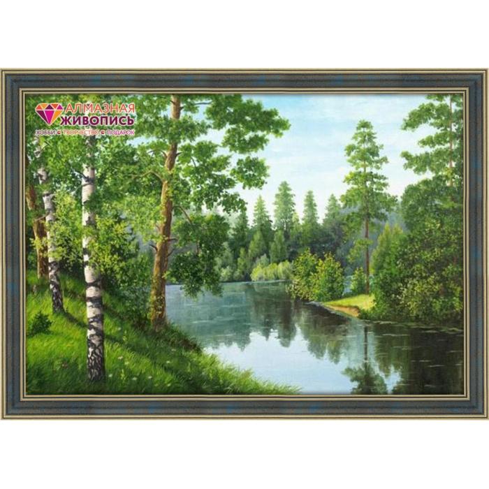 Набор для изготовления картин АЛМАЗНАЯ ЖИВОПИСЬ арт.АЖ.1243 Лесная река 56х38 см