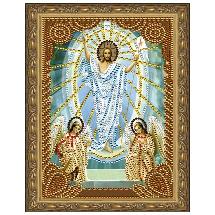 Картина 5D мозаика с нанесенной рамкой Molly арт.KM0712 Воскресение Христово (7 цветов) 20х30 см