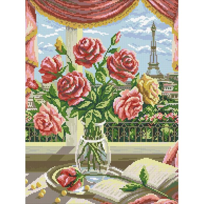 Набор Паутинка для изготовления картины со стразами арт.М247 Французский букет 35х45 см