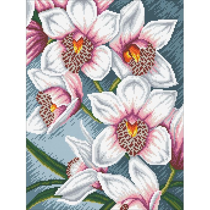 Набор Паутинка для изготовления картины со стразами арт.М248 Орхидеи 35х45 см