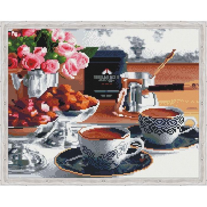 Алмазная вышивка Аромат утреннего кофе QA201916 40х50 тм Цветной