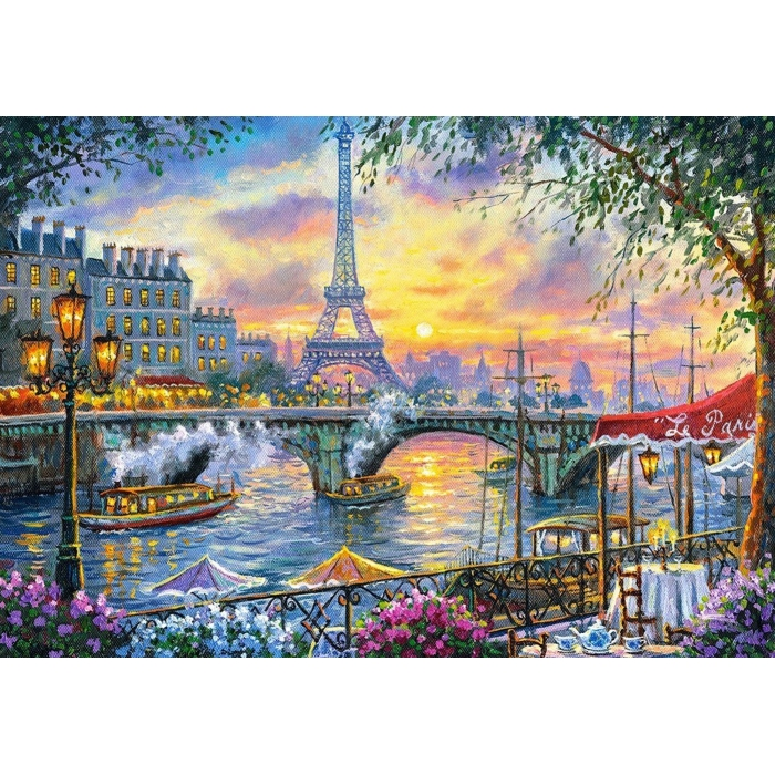 Картина 3D мозаика с нанесенной рамкой Molly арт.KM0892 Париж на закате 40х50 см