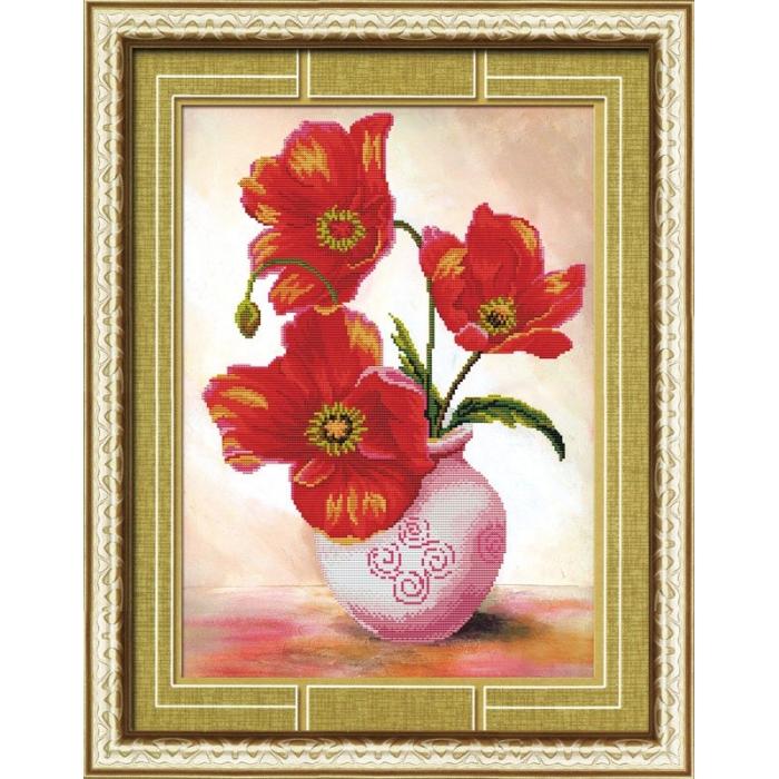 Набор Колор Кит мозаичная картина арт.КК.80230 Маки в вазе 38х52