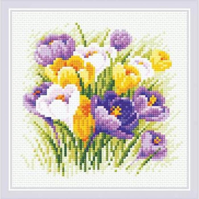 Набор РИОЛИС мозаичная картина арт.АМ0060 Крокусы 20х20 см