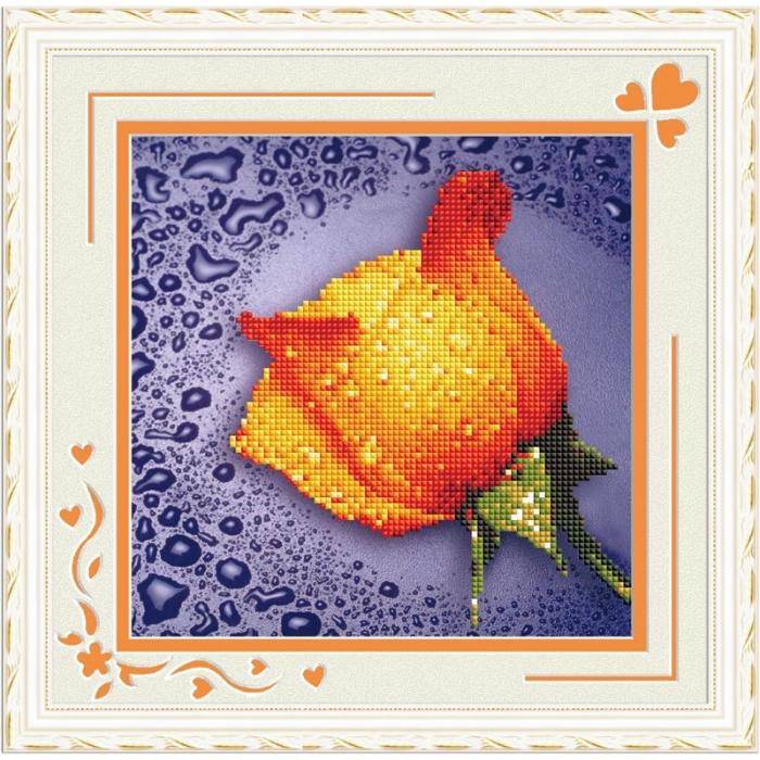 Набор Колор Кит мозаичная картина арт.КК.80211 Желтая роза 22х22
