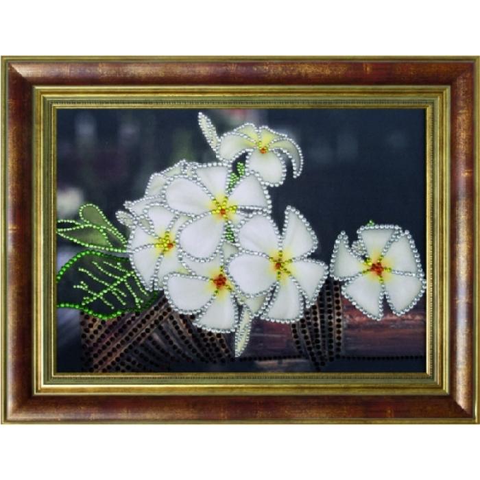 Набор ПРЕОБРАНА арт.ПРБ-0120 для изготовления картины со стразами Тропический аромат 28х38 см